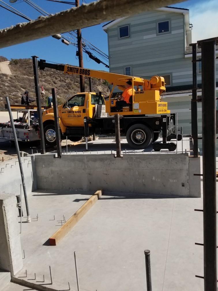 5 Ton rental crane on a jobsite
