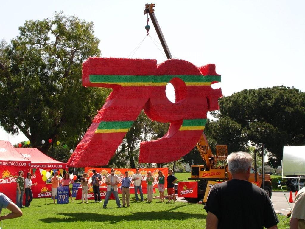 Del Taco commercial crane rental