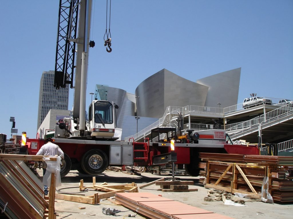 working on the Disney Concert Hall