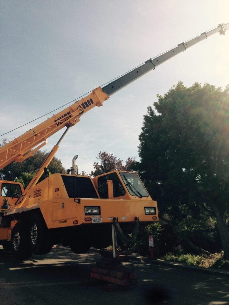 Construction crane working level