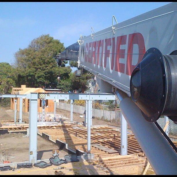 crane on a building site