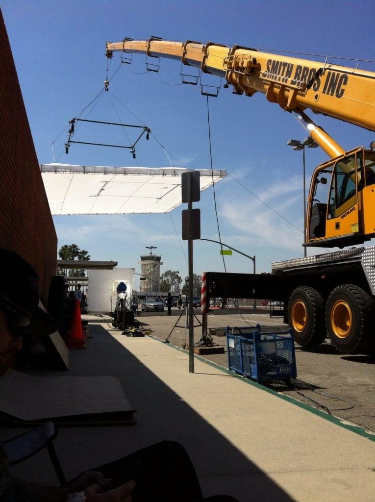 crane using a light boom