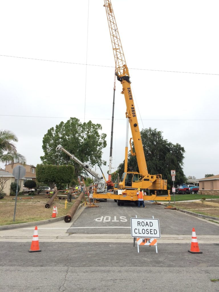 power pole installation